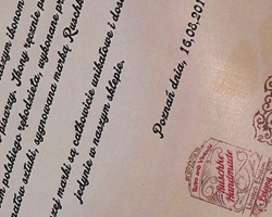 Ruschke Handmade certyfikat